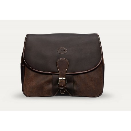 Baron Shoulder Bag Brown Suede