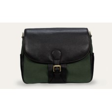 Baron Shoulder Bag green Canvas