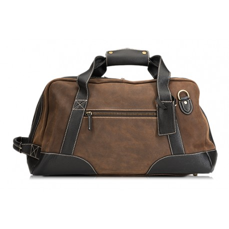 Baron Duffel Bag-Small Brown Suede