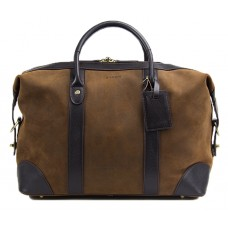 Baron Small Weekend Bag Brown Suede