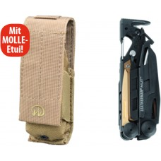 Leatherman Multitool MUT BLACK mit MOLLE-Etui braun