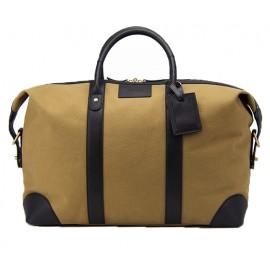 Baron Weekend Bag Khaki Canvas