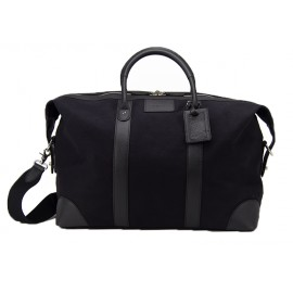 Baron Weekend Bag Black canvas