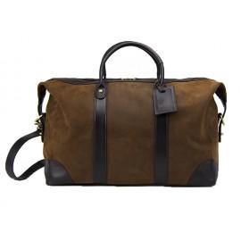 Baron Weekend Bag Brown Suede