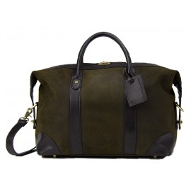 Baron Weekend Bag Small Green Suede
