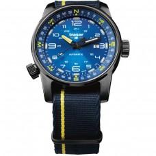 Traser H3 P68 Pathfinder Automatic Blue, Natoband blau-gelb
