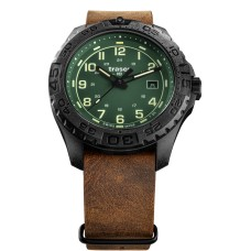 Traser H3 P96 OdP Evolution Green, Leder-Natoband