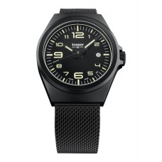 Traser H3 P59 Essential M Black, Milanese Edelstahlband PVD-besch.