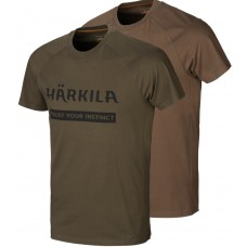 Härkila Logo T-Shirt 2er-pack Willow green/Slate brown