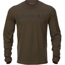 Härkila Mountain Hunter Langarmshirt Hunting green/Shadow brown
