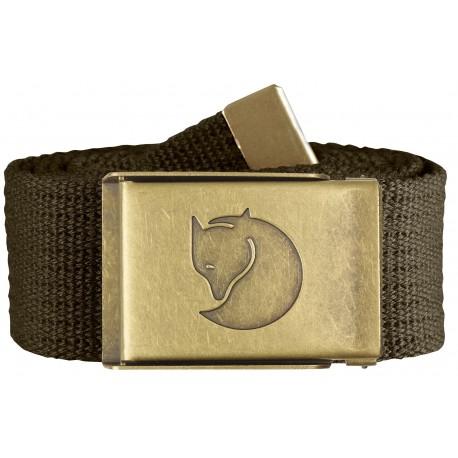 Fjällräven Canvas Brass Belt 4cm Dark Olive