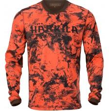Härkila Wildboar Pro Langarmshirt Orange Blaze/Shadow brown