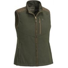 Pinewood Prestwick Exclusiv Damen Bluse Mossgreen/Darkbrown