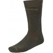 Härkila Pro Hunter 2.0 Socken kurz Willow green/Shadow brown