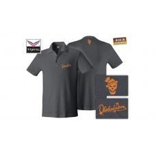 OA Lifestyle Polo-Shirt Anthrazit/Orange