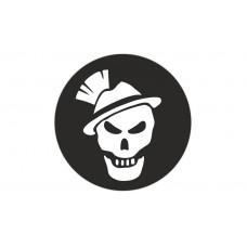 OA Sticker Tactical Sepp rund Black & White