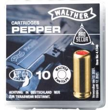 WALTHER PFEFFER-GAS PATRONEN cal. 9 mm P.A.PV. - 10 Schuss