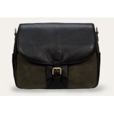 Baron Shoulder Bag green Suede