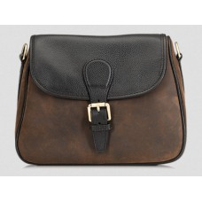 Baron Cartridge Bag Brown Suede