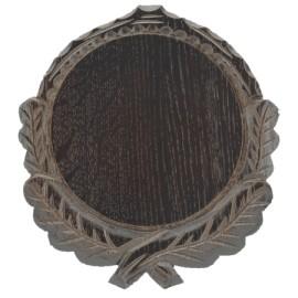 Keilerschild geschnitzt - 16cm, dunkel.