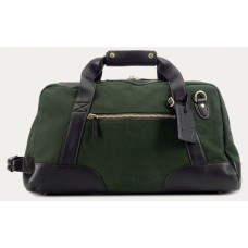 Baron Small Duffel Bag Green Canvas
