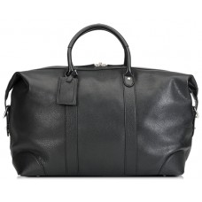 Baron Weekend Bag Black Leather