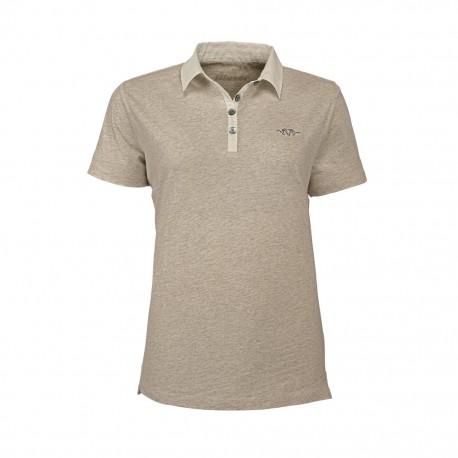 Blaser Polo Hemd Damen beige mélange