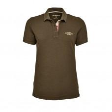 Blaser Polo-Hemd Damen schlamm