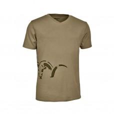 Blaser Logo V-T-Shirt Herren Armin sand