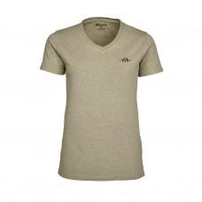 Blaser V-T-Shirt Damen beige mélange